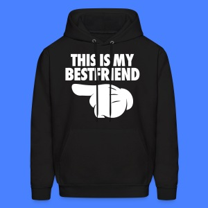 This Is My Bestfriend (Pointing Left) Hoodies - Men's Hoodie