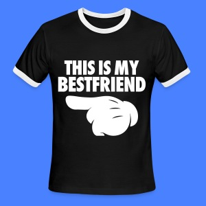 This Is My Bestfriend (Pointing Left) T-Shirts - Men's Ringer T-Shirt