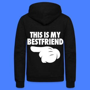 This Is My Bestfriend (Pointing Left) Zip Hoodies & Jackets - Unisex Fleece Zip Hoodie by American Apparel