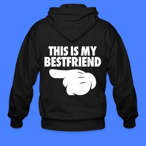 This Is My Bestfriend (Pointing Left) Zip Hoodies & Jackets - Men's Zip Hoodie