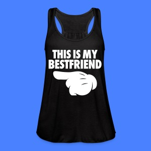 This Is My Bestfriend (Pointing Left) Tanks - Women's Flowy Tank Top by Bella