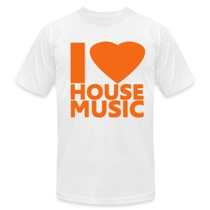 I Love House Music - Men's T-Shirt by American Apparel