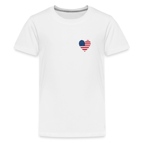 USAts American Flag Heart RWB LOVE - Kids' Premium T-Shirt