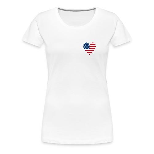 USAts American Flag Heart RWB LOVE - Women's Premium T-Shirt