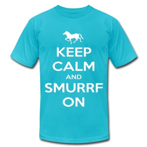 Keep Calm and Smurrf On! - Men's T-Shirt by American Apparel