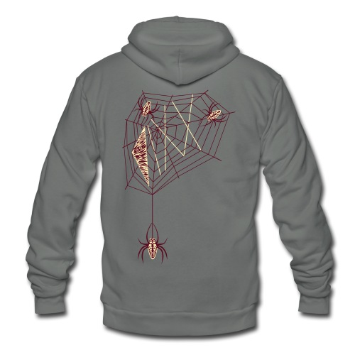 VIXX's Spiderweb  - Unisex Fleece Zip Hoodie by American Apparel