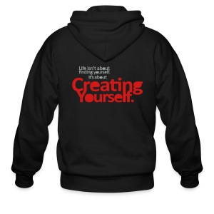 Creating Yourself (Back) - Men's Zip Hoodie
