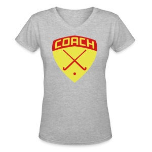 Field Hockey Coach Women's T-Shirt - Women's V-Neck T-Shirt