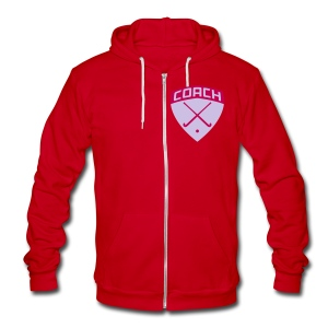 Field Hockey Coach Women's Zipped Hoodie - Unisex Fleece Zip Hoodie by American Apparel