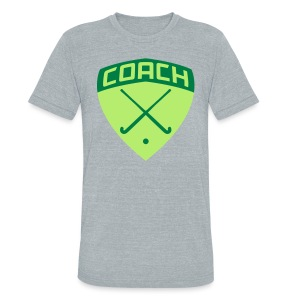 Field Hockey Coach T-Shirt - Unisex Tri-Blend T-Shirt by American Apparel