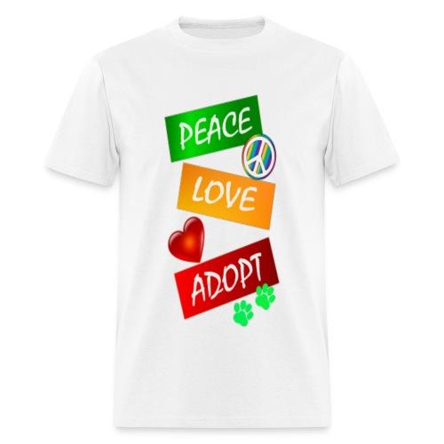 PEACE LOVE ADOPT - Men's T-Shirt