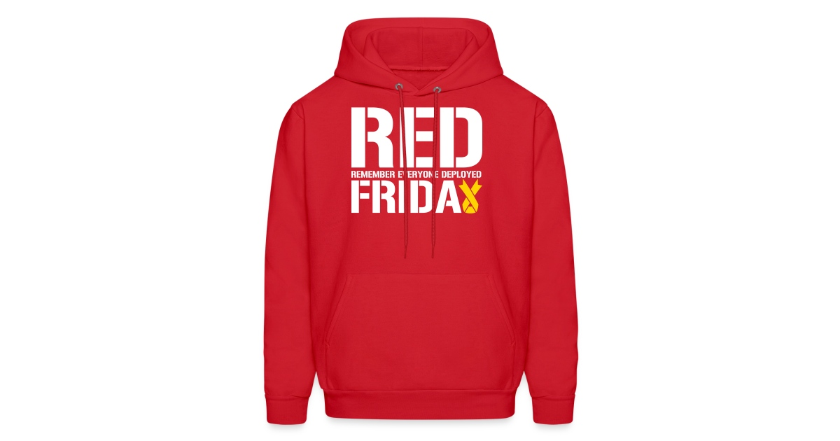 brand new 8d093 1c1a7 MADLABSTEES | Red Friday Remember Everyone Deployed - Mens Hoodie
