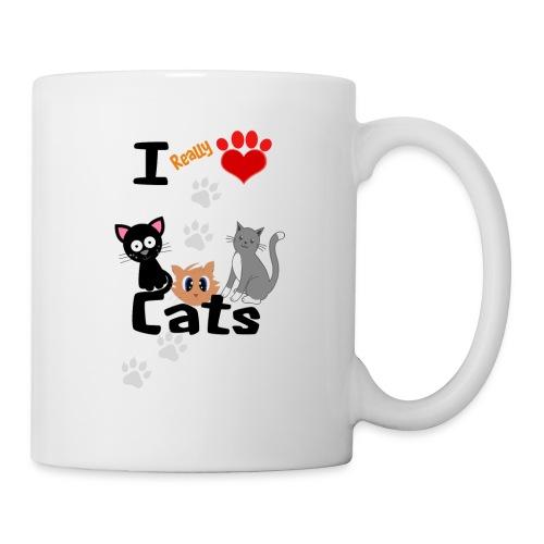 I REALLY LOVE CATS - Coffee/Tea Mug