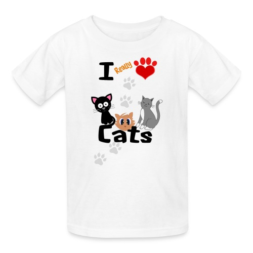 I REALLY LOVE CATS - Kids' T-Shirt