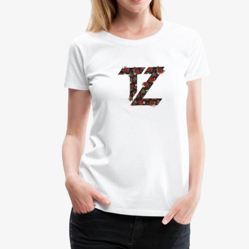 Women's Floral Rose Logo Premium T-Shirt - Women's Premium T-Shirt