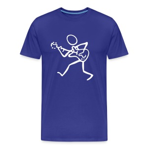Stick Figure Guitarist  - Men's Premium T-Shirt