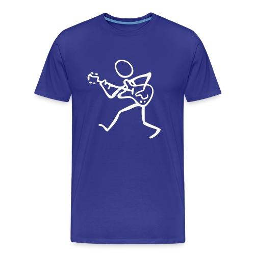 Stick Figure Guitarist  - Men's Premium T-Shirt