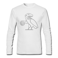 Long Sleeve Shirts ~ Men's Long Sleeve T-Shirt by American Apparel ~ OVO Raptors