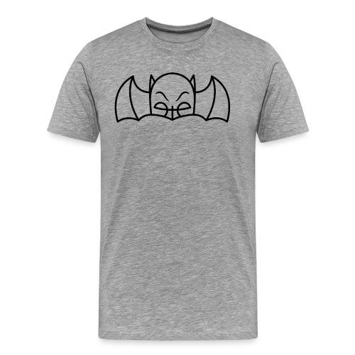 Bat Cowl & Wings - Men's Heather Grey - Men's Premium T-Shirt