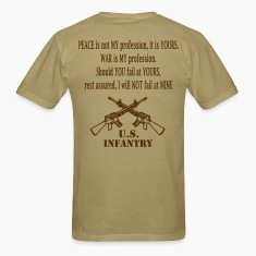 Mens's Brown Infantry T Shirt