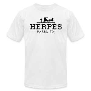 Herpes, Paris, TX™ - Men's T-Shirt by American Apparel