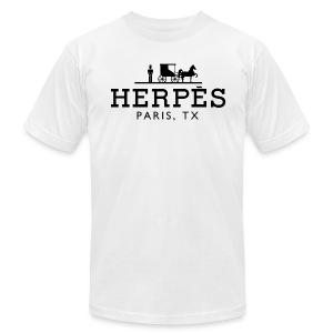 Herpes, Paris, TX™ - Men's Fine Jersey T-Shirt