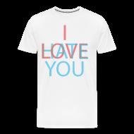 T-Shirts ~ Men's Premium T-Shirt ~ Love/Hate 3d