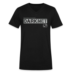 Darknet label T-shirt, V-Neck / Black - Men's V-Neck T-Shirt by Canvas