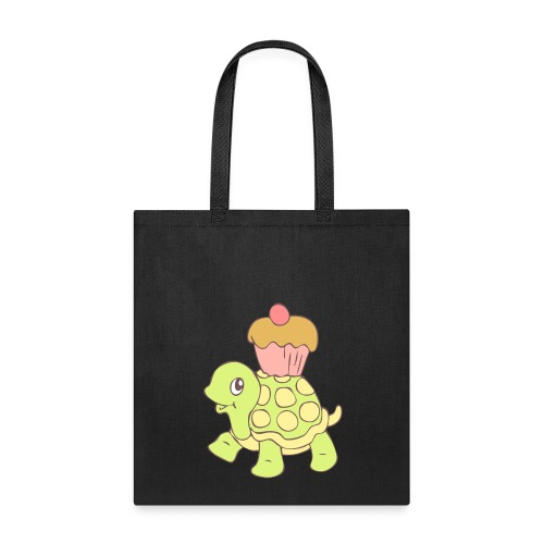 Turtle with Cupcake - Tote Bag