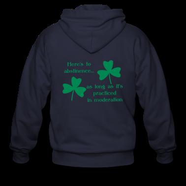 Abstinence Shamrock Zip Hoodies & Jackets
