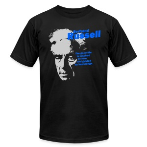 The Good Life - Bertrand Russell - Men's T-Shirt by American Apparel