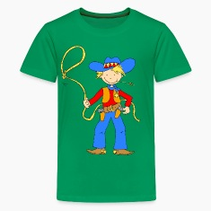 Cowboy with Lasso Kids' Shirts