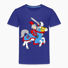 Boy Knight on a Horse Baby & Toddler Shirts