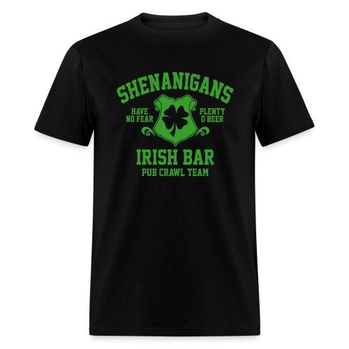 shenanigans irish pub crawl team - Men's T-Shirt