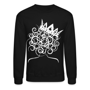 Curly Girl with Crown  - Crewneck Sweatshirt