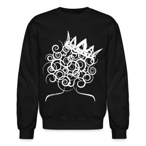 Curly Girl with Crown  - Crewneck Sweatshirt