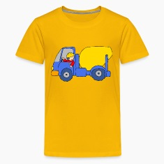 Concrete Mixer Truck Kids' Shirts