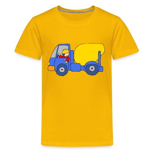 Concrete Mixer Truck - Kids' Premium T-Shirt