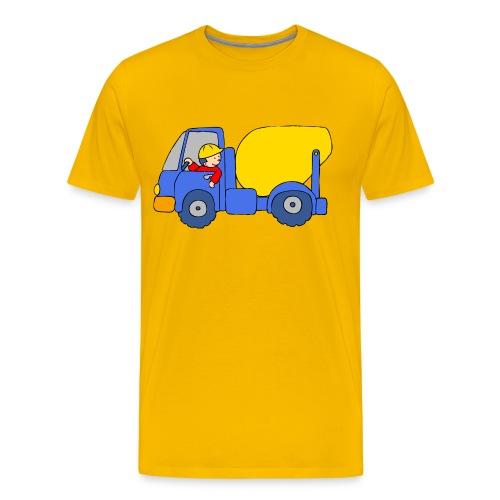 Concrete Mixer Truck - Men's Premium T-Shirt