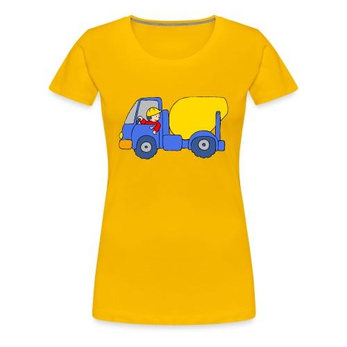 Concrete Mixer Truck - Women's Premium T-Shirt