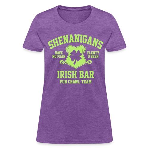 shenanigans irish pub crawl team - Women's T-Shirt