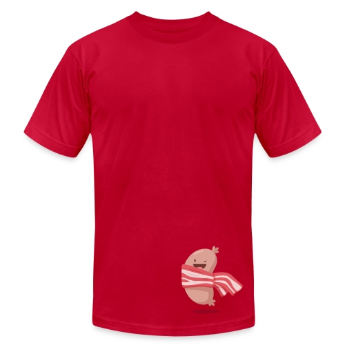 Sausage and bacon scarf - Men's  Jersey T-Shirt