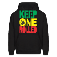 Hoodies ~ Men's Hoodie ~ keep one rolled hoodies