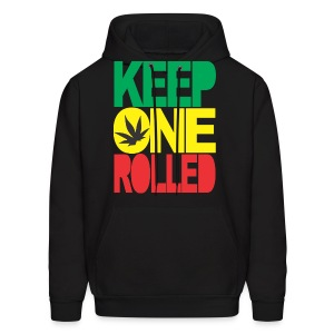 keep one rolled hoodies - Men's Hoodie
