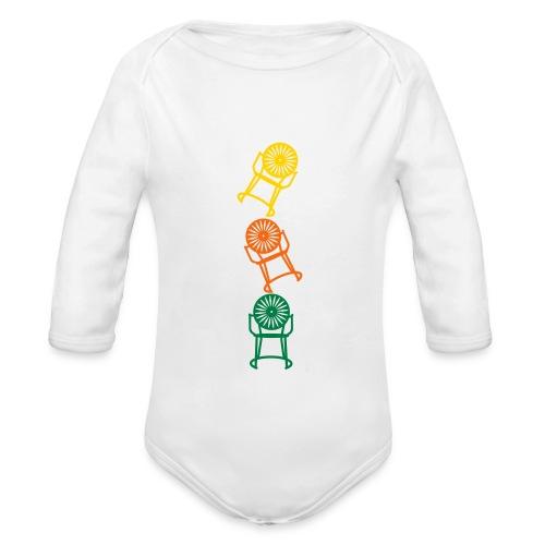 3 Chair Long Sleeve Onesie - Organic Long Sleeve Baby Bodysuit