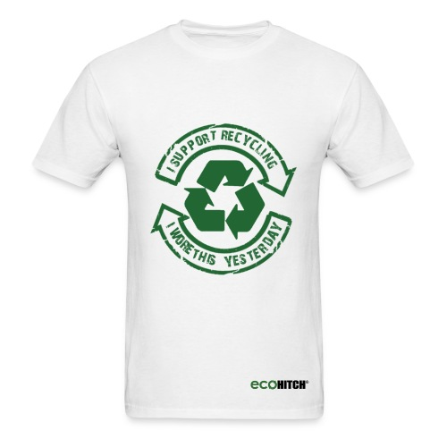 Support Recycling-White - Men's T-Shirt