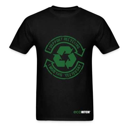 Support Recycling-Black - Men's T-Shirt