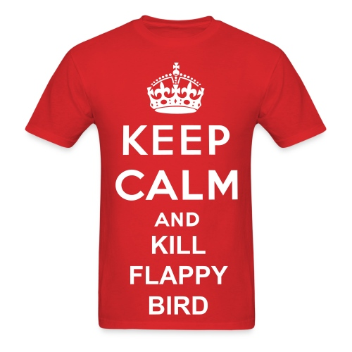 Attack of the Flappy Birds - Men's T-Shirt