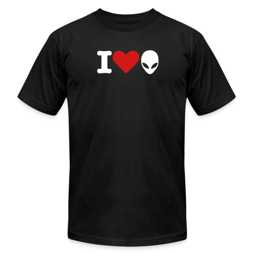 I Love Aliens - Men's Fine Jersey T-Shirt