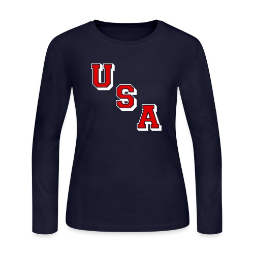 BESTKESSEL Women's Longsleeve T - Women's Long Sleeve Jersey T-Shirt
